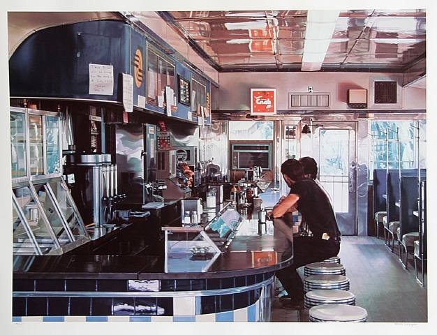 Diner ralph goings encyclopedia of for Diner painting