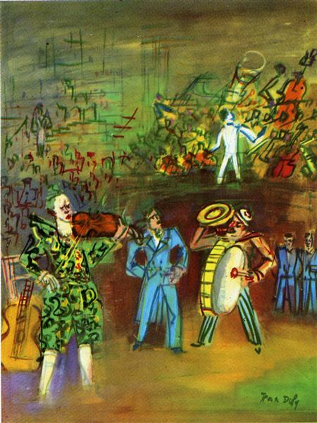 Clowns and Musicians - Raoul Dufy