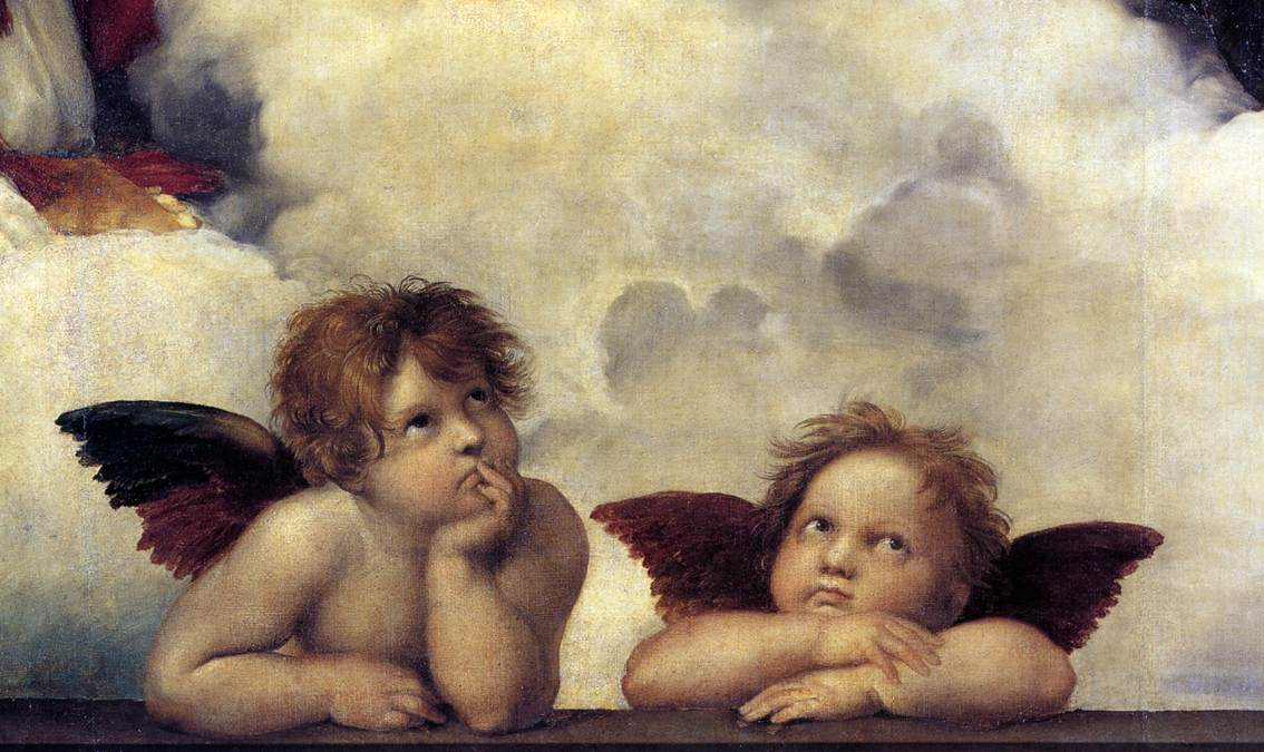 Putti  detail from The Sistine MadonnaSistine Madonna Detail