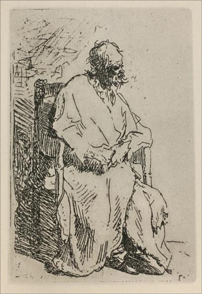 A Beggar Sitting in an Elbow Chair, 1630 - Rembrandt