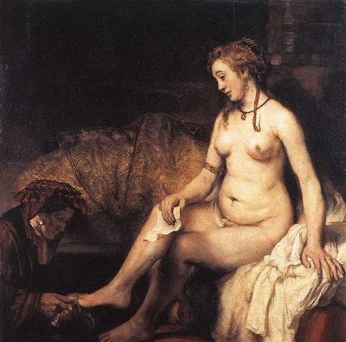 Bathsheba Bathing - Rembrandt
