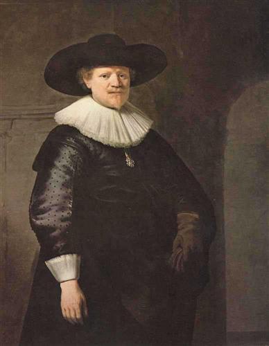 Portrait of a Man (possibly the poet Jan Harmensz Krul) - Rembrandt