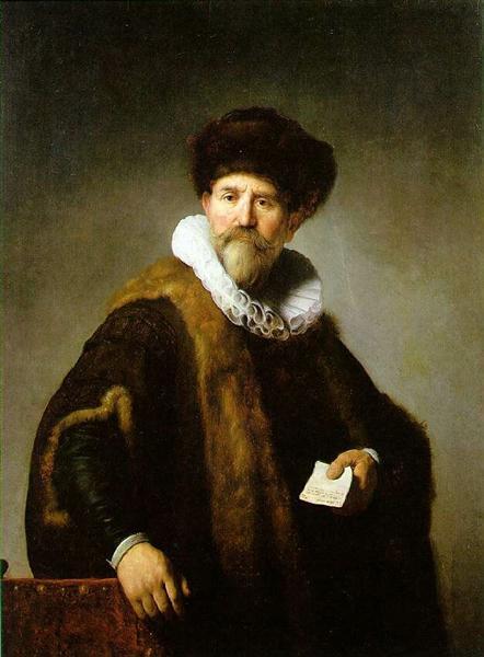 Portrait of Nicolaes Ruts - Rembrandt
