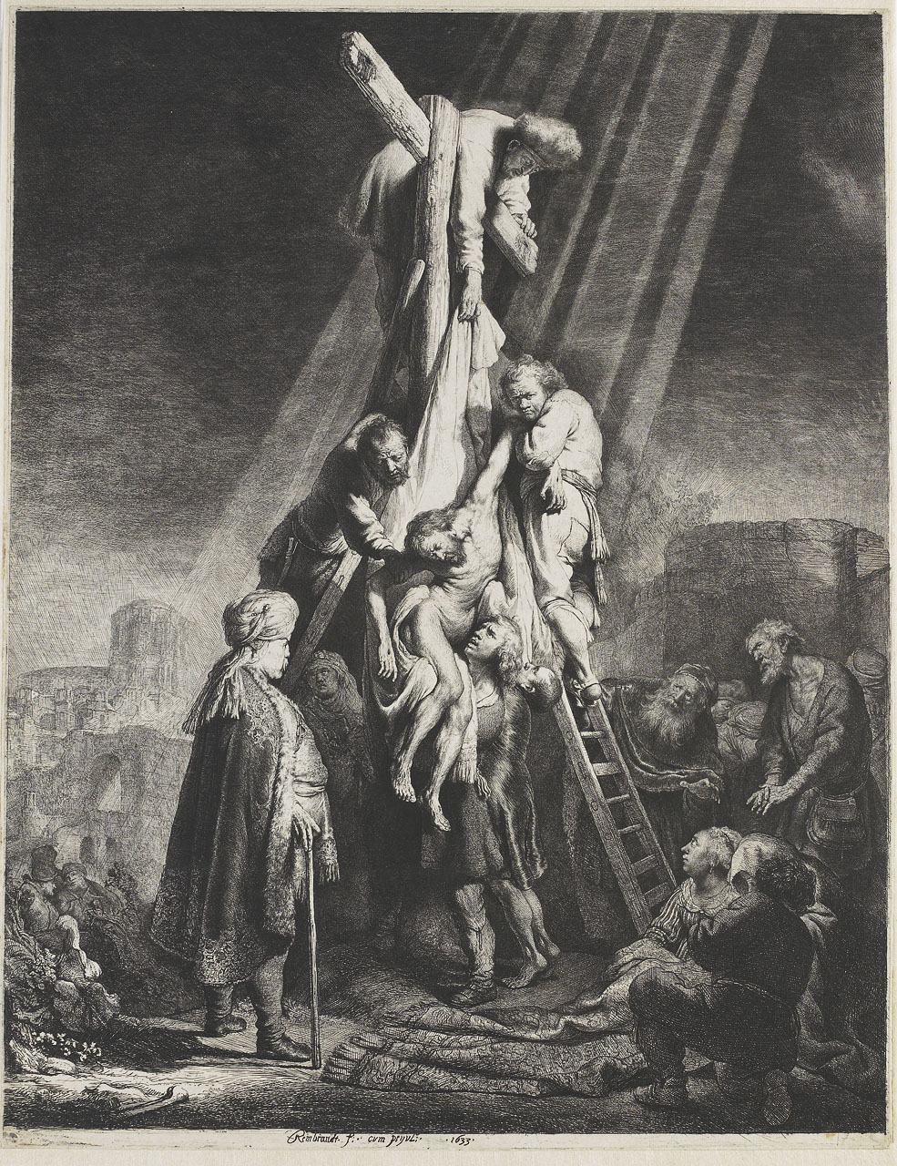 The descent from the cross - Rembrandt - WikiArt.org ...