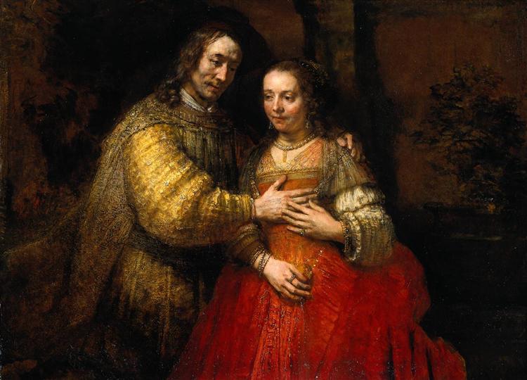 The Jewish Bride, 1666 - Rembrandt