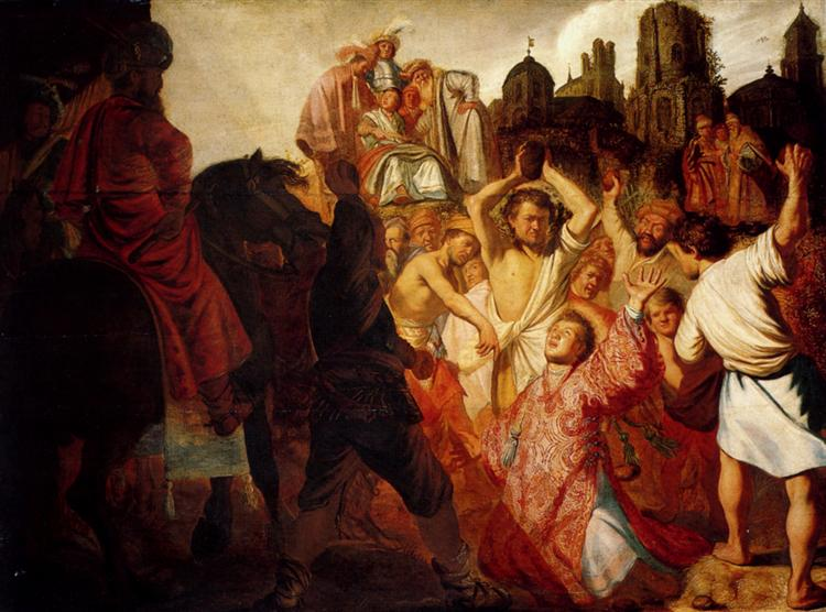 The Stoning Of St. Stephen - Rembrandt