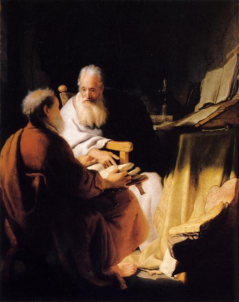 Two Old Men Disputing, c.1628 - Rembrandt