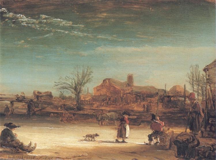 Winter Landscape - Rembrandt