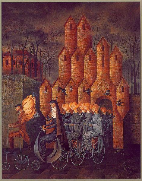 Towards The Tower - Remedios Varo Uranga