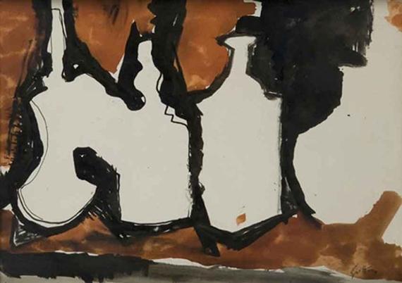 Bottiglie - Omaggio a Morandi, 1965 - Renato Guttuso