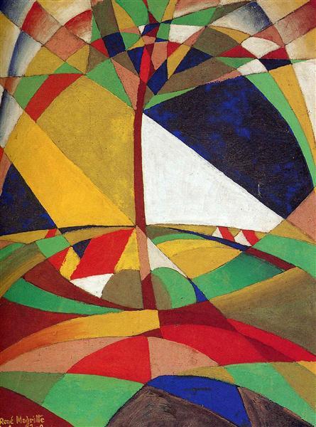 Landscape, 1920 - Rene Magritte