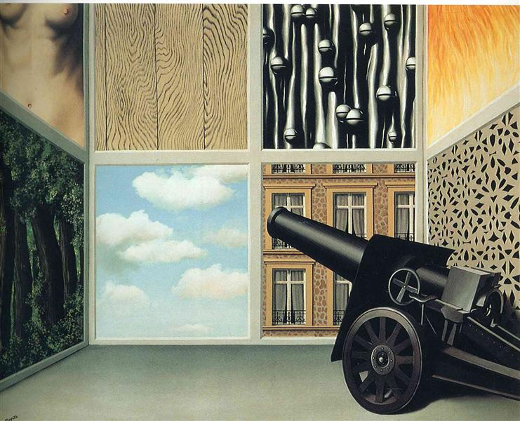 On the threshold of liberty, 1930 - Rene Magritte