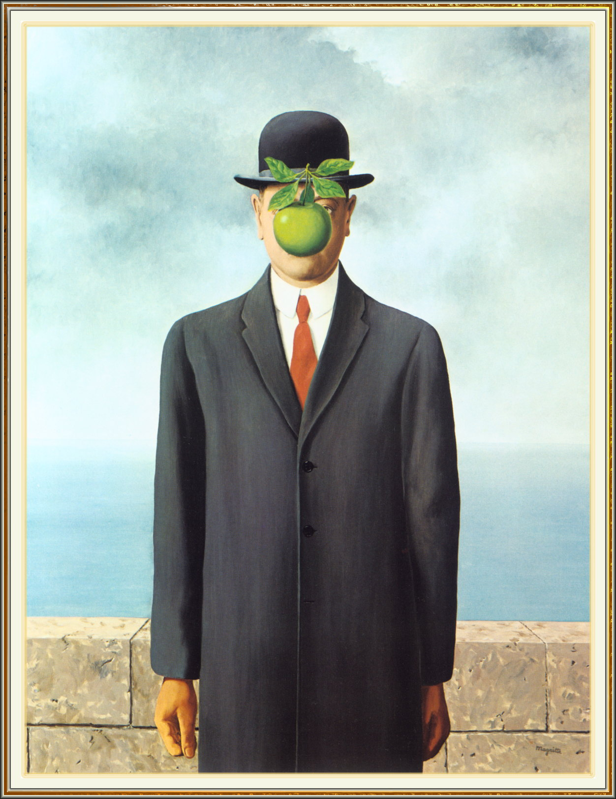 surrealism apple faces