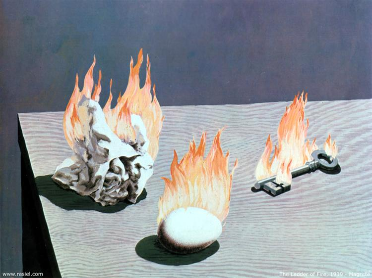 The Ladder Of Fire, 1939 - Rene Magritte