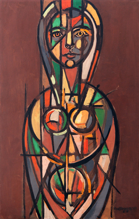 Stained Glass Lady, 1958 - Rene Portocarrero