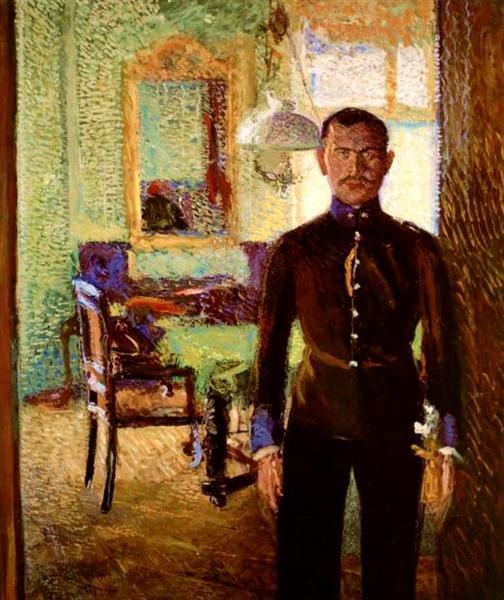 Portrait of a Lieutenant (Alois Gerstl), 1906 - Richard Gerstl