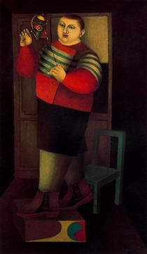 Boy with machine - Ричард Линдер