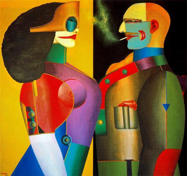 The Couple, 1971 - Richard Lindner