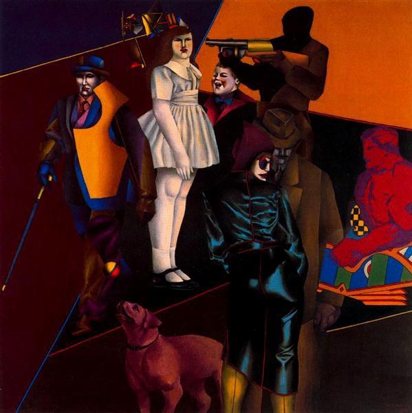 The Street, 1963 - Richard Lindner