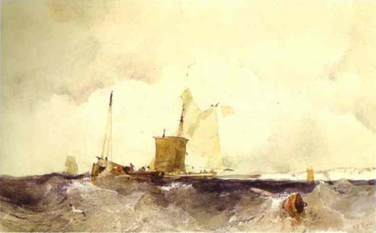 At the English Coast, 1825 - Richard Parkes Bonington
