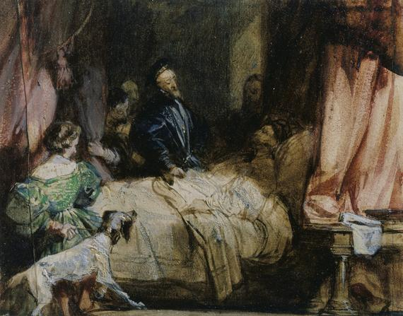 Charles V visits Francis I after the Battle of Pavia, c.1827 - Richard Parkes Bonington
