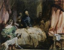 Charles V visits Francis I after the Battle of Pavia - Річард Паркс Бонінгтон