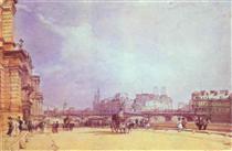 Paris. Quai du Louvre. - Річард Паркс Бонінгтон