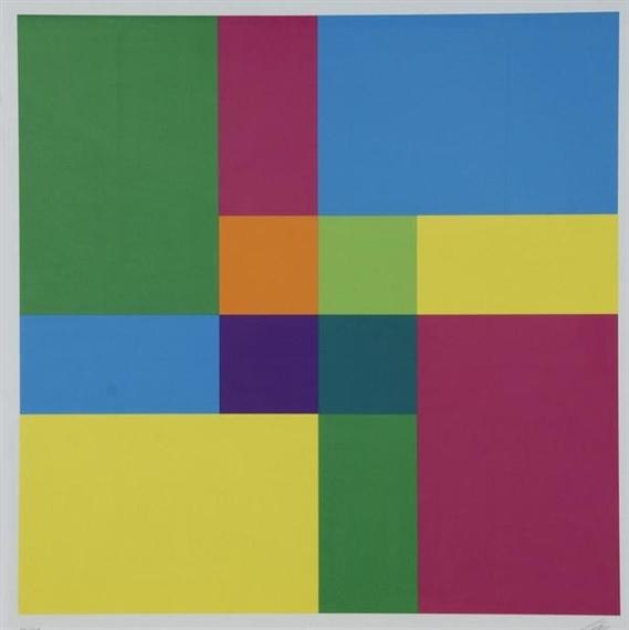 Zentrum aus vier Quadranten als Ergebnis der vier Kreuzflächen, 1976 - Richard Paul Lohse