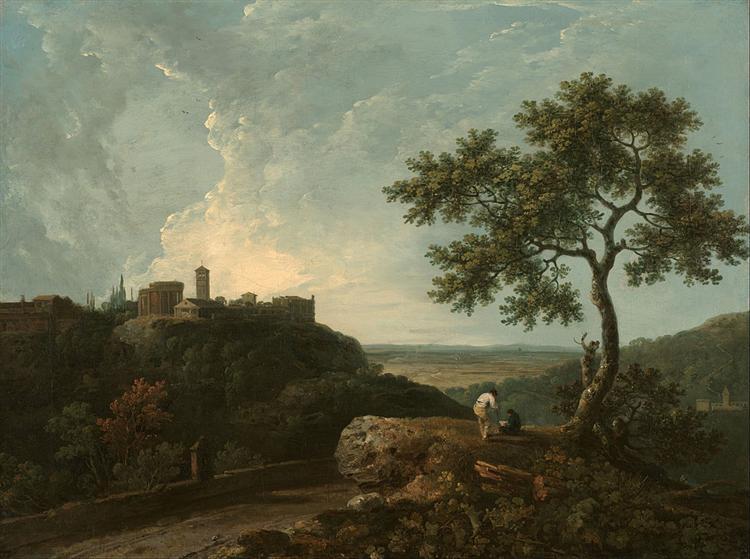 Tivoli: The Temple of the Sybil and the Campagna, 1765 - Richard Wilson
