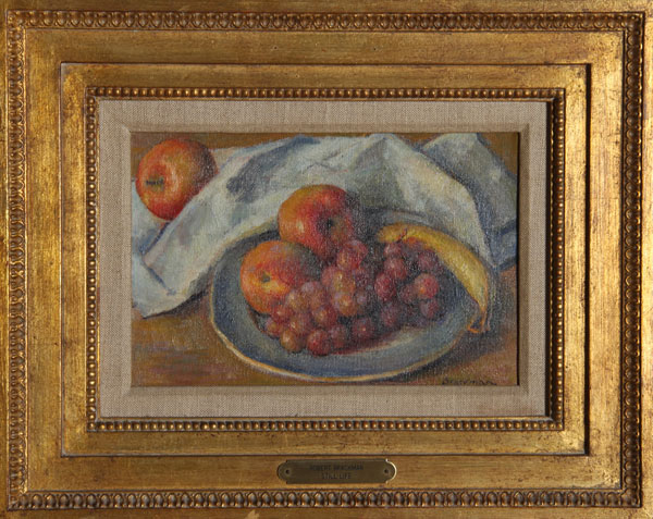 A Plate of Fruit - Robert Brackman