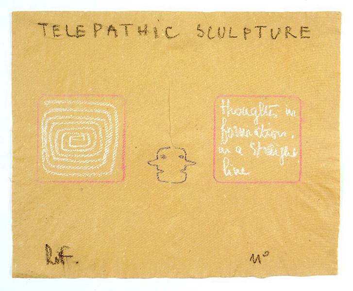 Telepathic Sculpture, 1975 - Robert Filliou