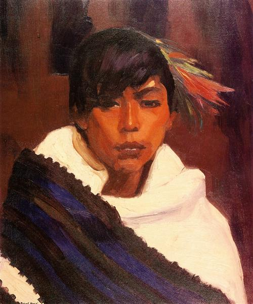 Ricardo, Indian of San Ildefonso, 1916 - Robert Henri