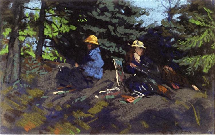 Sketchers in the Woods, 1918 - Robert Henri