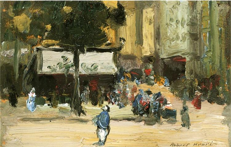 Street Corner in Paris, 1896 - Robert Henri