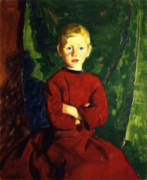 Thomas in His Red Coat, 1913 - Robert Henri