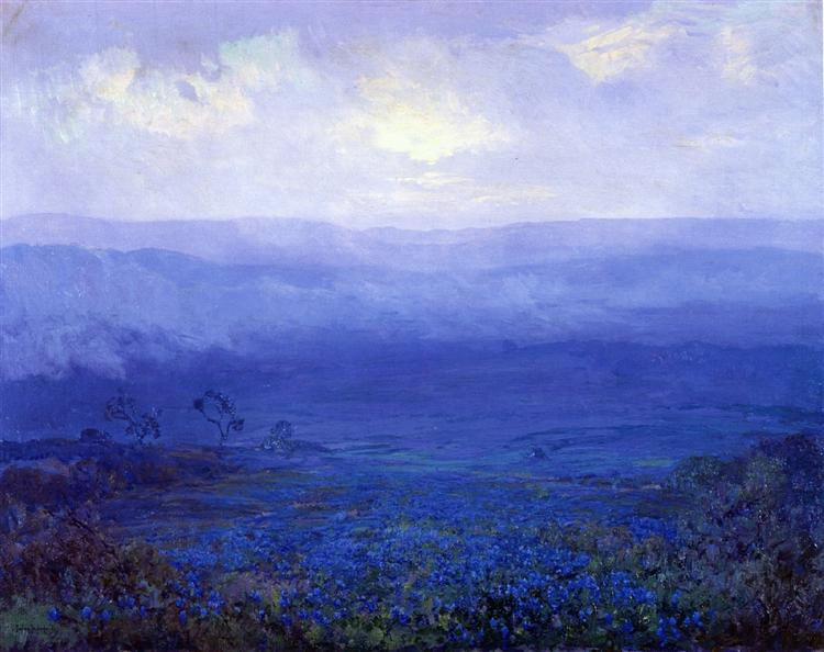 Bluebonnets in Texas - Robert Julian Onderdonk