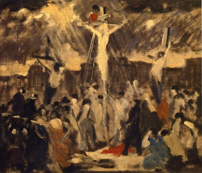 Crucifixion, Sketch #3, 1930 - Роберт Спенсер
