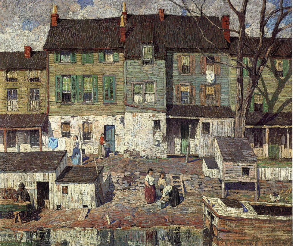 On the Canal, New Hope, 1916