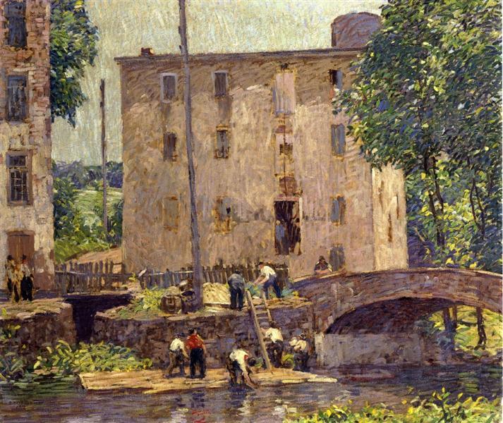 Repairing the Bridge, 1913 - Robert Spencer