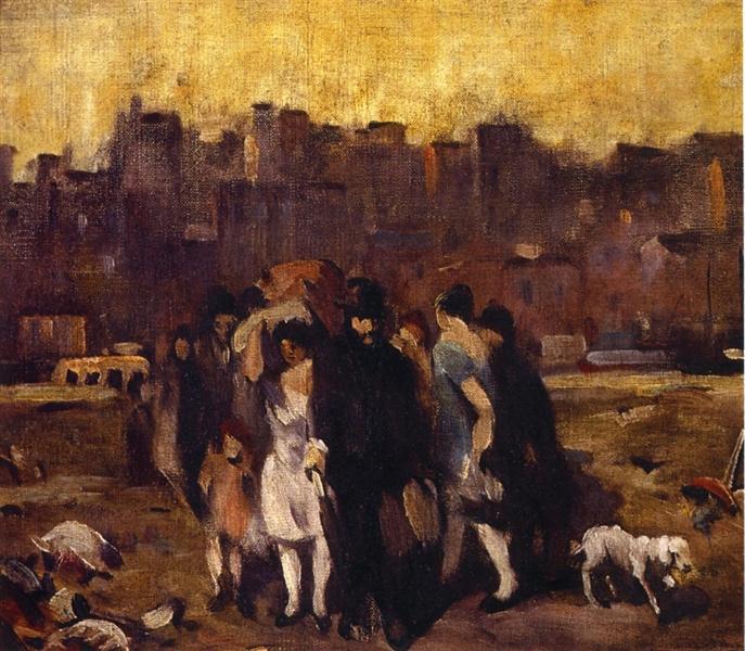Study for The Exodus, 1927 - Robert Spencer