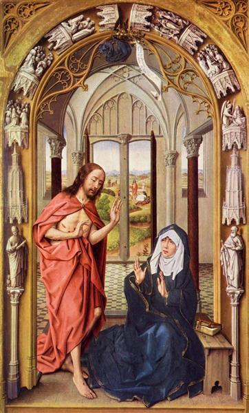 Christ appears to Mary, 1430 - Rogier van der Weyden