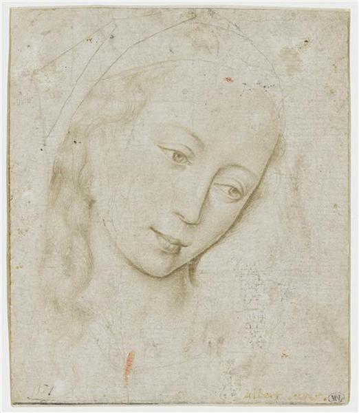 Head of the Virgin, c.1460 - Rogier van der Weyden