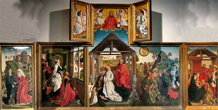 Polyptych with the Nativity - Rogier van der Weyden