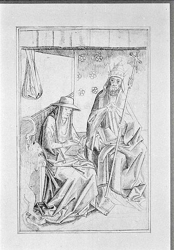 Saint Gregory the Great and St. Jerome - Rogier van der Weyden