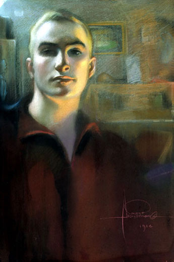Self-portrait, 1914 - Rolf Amstrong