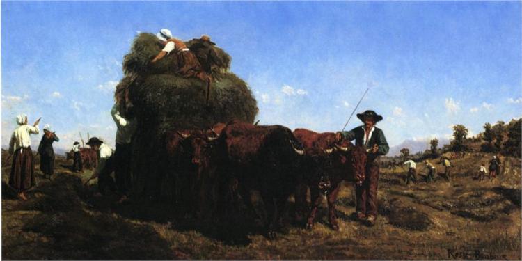 The Return from the Harvest - Rosa Bonheur
