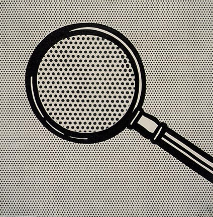 Magnifying glass, 1963 - Roy Lichtenstein