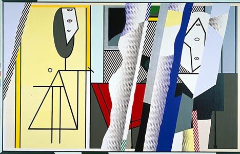 Reflections on the artist's studio, 1989 - Roy Lichtenstein