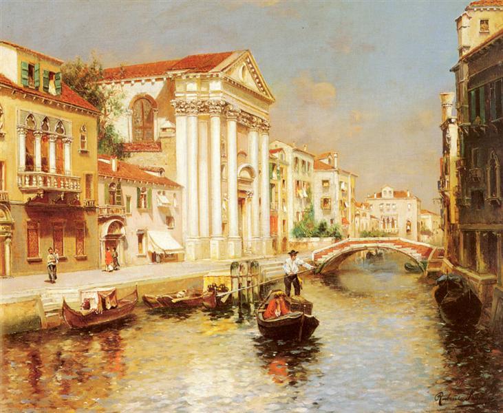 A Venetian Canal - Rubens Santoro