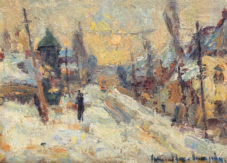 Winter Landscape - Rudolf Schweitzer-Cumpana